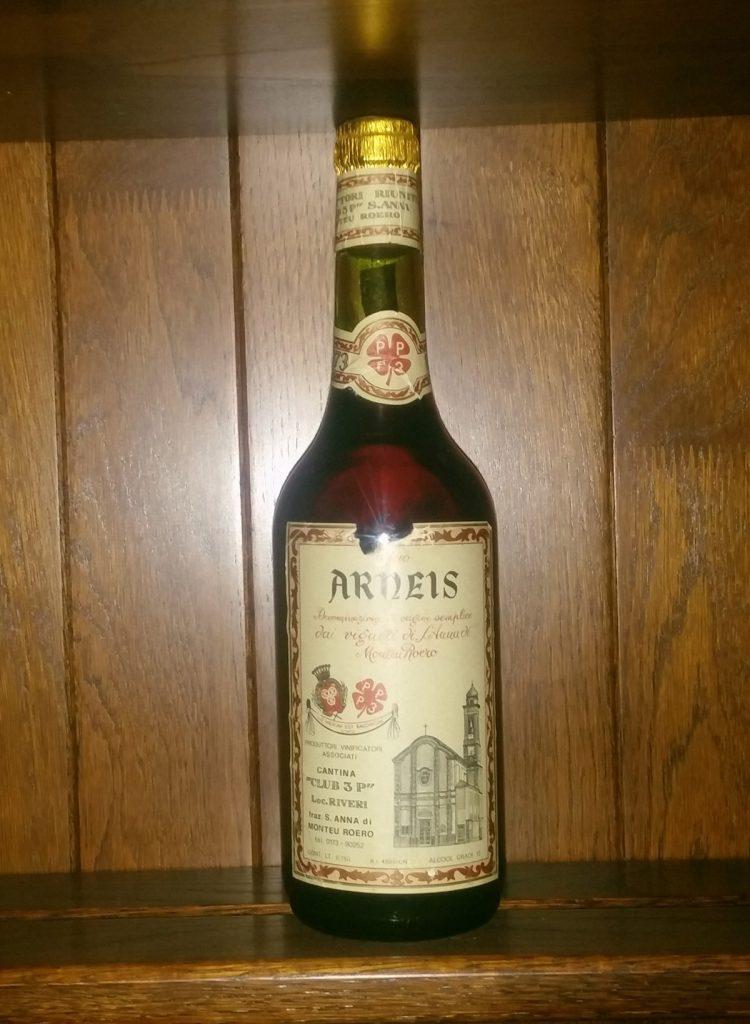 Storica Bottiglia di Arneis